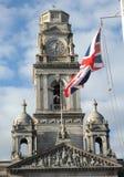 Torre e bandiera fotografia stock