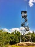 Torre e céu de fogo Fotografia de Stock