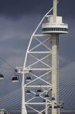 Torre e cabo aéreo Imagem de Stock
