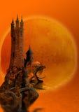Torre e dragões Fotografia de Stock
