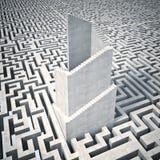 Torre e labirinto Fotografia Stock