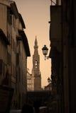 Torre e lampada Fotografia Stock