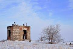 Torre e madeira velhas do tijolo fotos de stock royalty free