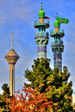 Torre e minareto di Milad Immagini Stock