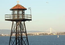 Torre e ponte dell'orologio della prigione Fotografia Stock Libera da Diritti