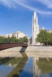 Torre e ponte. Girona Foto de Stock Royalty Free