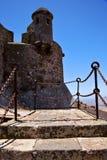 Torre e porta de lanzarote da ponte levadiça de arrecife da etapa nos teguis imagens de stock royalty free