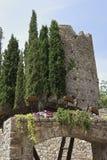 Torre e watermill imagem de stock royalty free