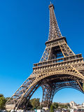 A torre Eiffel é marco em Paris Fotografia de Stock Royalty Free
