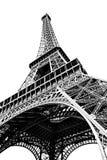 Torre Eiffel aislada en blanco Imagenes de archivo