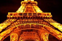 Torre Eiffel alla notte Fotografia Stock