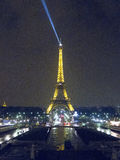 Torre Eiffel alla notte 4881, Parigi, Francia, 2012 Fotografia Stock Libera da Diritti