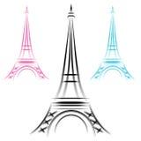 Torre Eiffel astratta Immagini Stock Libere da Diritti