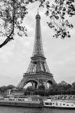 Torre Eiffel in bianco e nero Immagini Stock Libere da Diritti