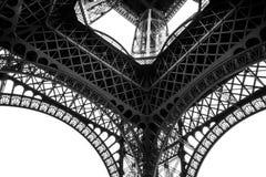 Torre Eiffel blanco y negro en la ciudad de París Francia Imagenes de archivo