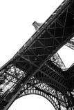 Torre Eiffel blanco y negro en la ciudad de París Francia Fotografía de archivo libre de regalías