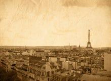 Torre Eiffel - calles parisienses hermosas Fotografía de archivo libre de regalías