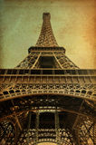 Torre Eiffel com papel do vintage Foto de Stock Royalty Free