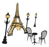 Torre Eiffel con las luces de calle