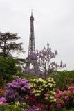 Torre Eiffel con las ramas del flor Foto de archivo