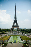 Torre Eiffel, contraste elevado Fotografia de Stock