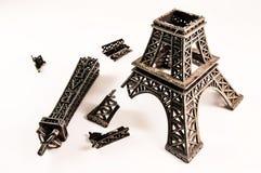 Torre Eiffel dañada Imágenes de archivo libres de regalías