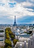 Torre Eiffel da Arc de Triomphe Fotografia Stock Libera da Diritti