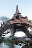 Torre Eiffel da parte inferior Fotos de Stock