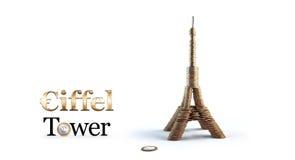 Torre Eiffel dai conis Fotografie Stock Libere da Diritti
