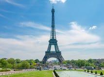 Torre Eiffel dal quadrato di Trocadero a Parigi Fotografie Stock Libere da Diritti