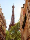 Torre Eiffel dalla città, Parigi Immagini Stock Libere da Diritti