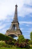 Torre Eiffel de la tarde imagen de archivo libre de regalías