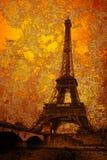 Torre Eiffel de la vendimia Foto de archivo libre de regalías