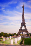 Torre Eiffel de Paris de Trocadero Imagens de Stock Royalty Free