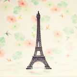 Torre Eiffel decorativa Fotos de archivo
