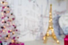 Torre Eiffel del Año Nuevo Imágenes de archivo libres de regalías