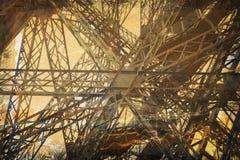 Torre Eiffel di Grunge fotografie stock libere da diritti