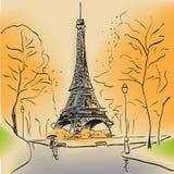 Torre Eiffel di Parigi illustrazione di stock