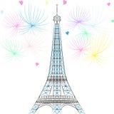 Torre Eiffel di vettore a Parigi Immagine Stock