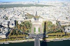 Torre Eiffel di vista di Parigi la Senna Fotografie Stock Libere da Diritti