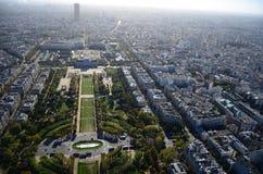 Torre Eiffel di vista di Parigi la Senna Immagini Stock