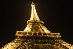 Torre Eiffel dorata Fotografie Stock Libere da Diritti
