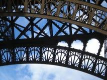 Torre Eiffel e avião - cor Foto de Stock Royalty Free