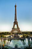 Torre Eiffel e fontane Immagine Stock Libera da Diritti