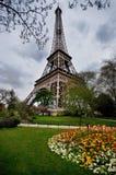 Torre Eiffel e o parque, Paris Imagens de Stock Royalty Free