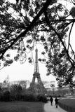 Torre Eiffel em épocas velhas, Paris fotos de stock