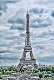 Torre Eiffel em Paris Opinião de HDR do vintage Estilo de Eiffel HDR da excursão fotos de stock royalty free
