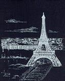 Torre Eiffel em um fundo cinzento fotos de stock