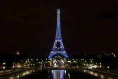Torre Eiffel en agosto de 2008 Fotografía de archivo libre de regalías