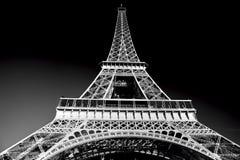 Torre Eiffel en el tono artístico, blanco y negro, París, Francia Fotografía de archivo